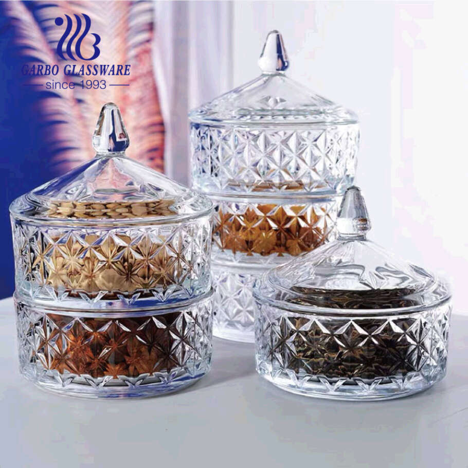 Garbo New Design Glass Candy Potes