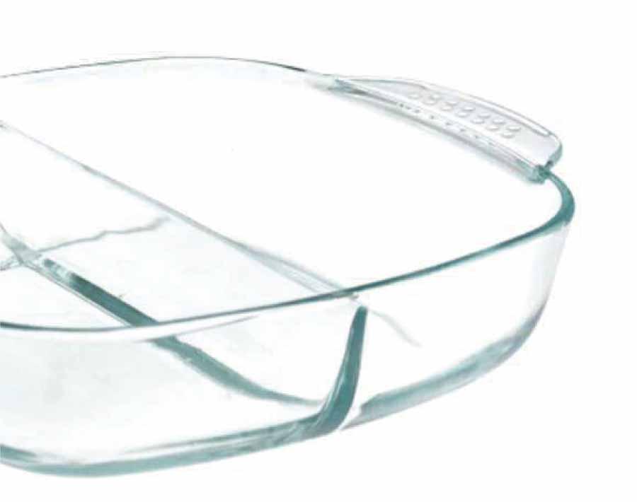 Đĩa nướng thủy tinh Pyres hình chữ nhật có vạch chia Thích hợp cho lò vi sóng và lò nướng