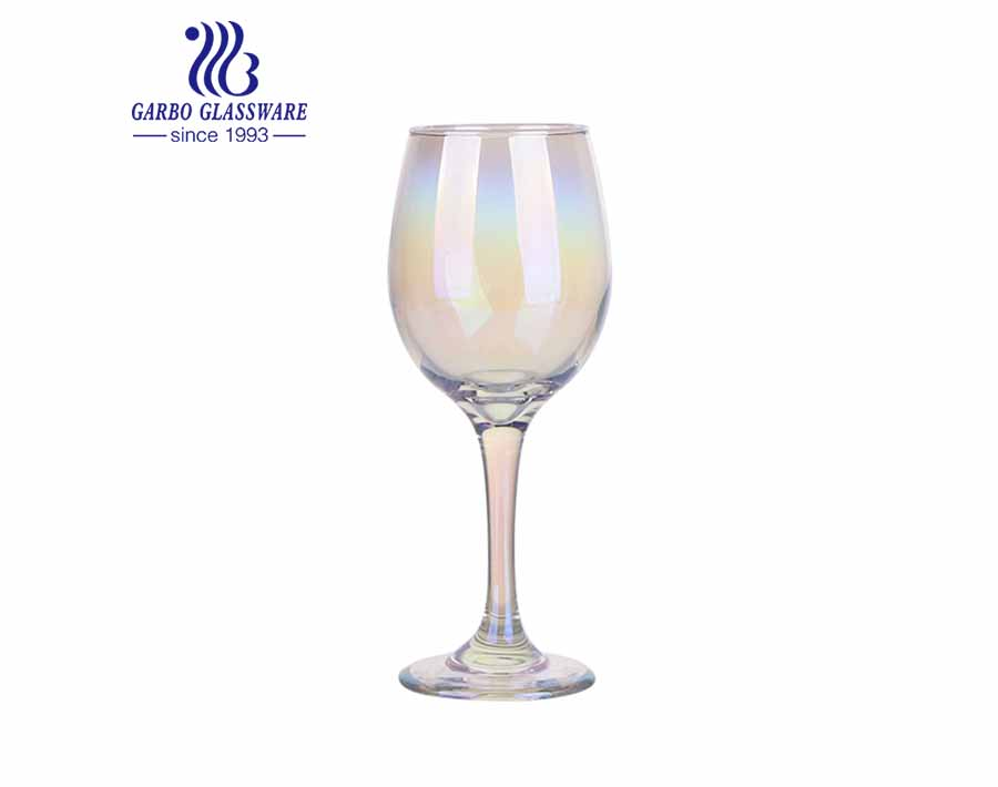 Hot Sale Gife Items Ion Plating Colorful Stemware 325ml Glass Cup for Beer Champagne