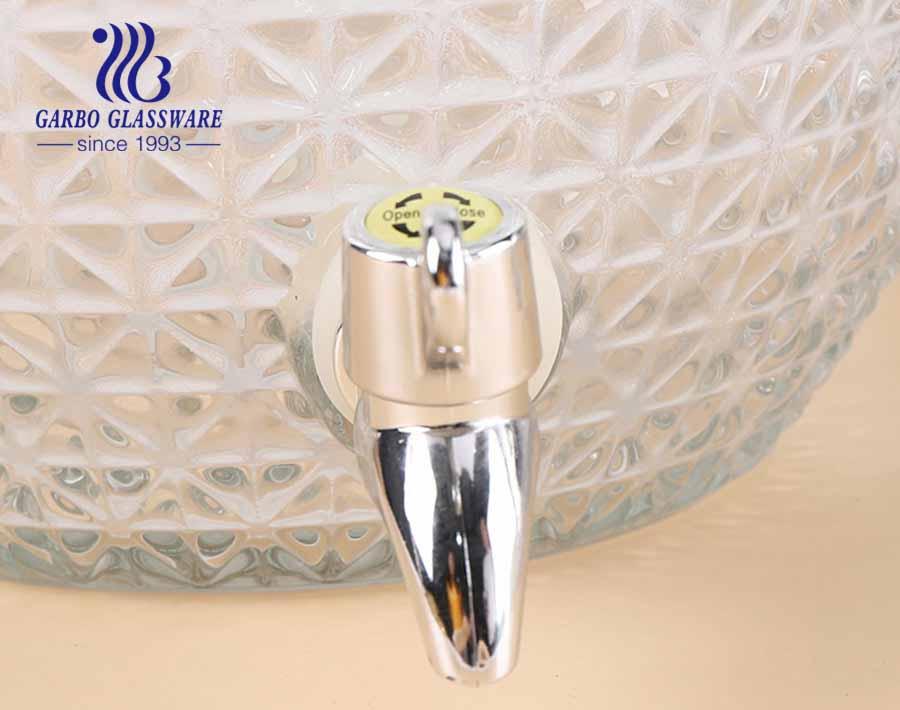 3 جالون بروميلياد شكل قطع تصميم الزجاج عصير تخزين الجرار مع صنبور