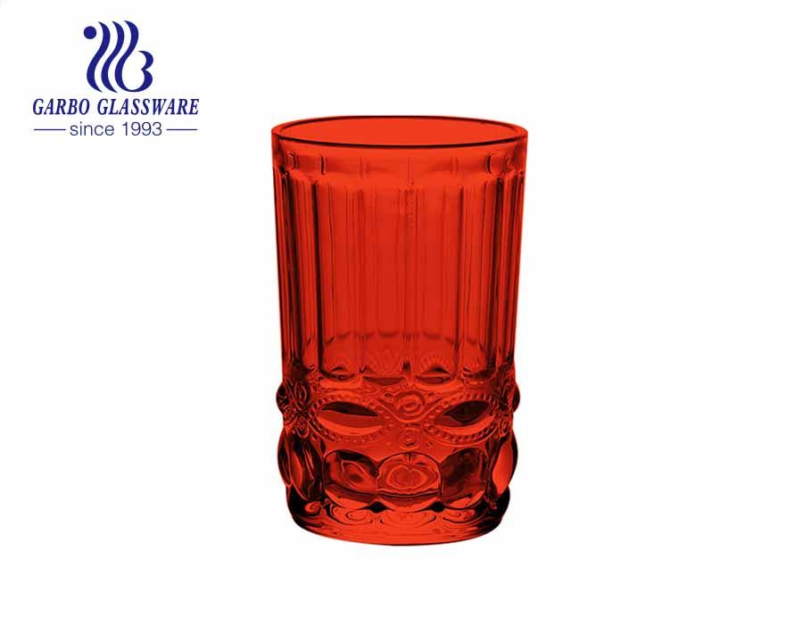 Máy ép thủy tinh nhiều màu sắc chất lượng cao 12oz dùng để uống nước trái cây