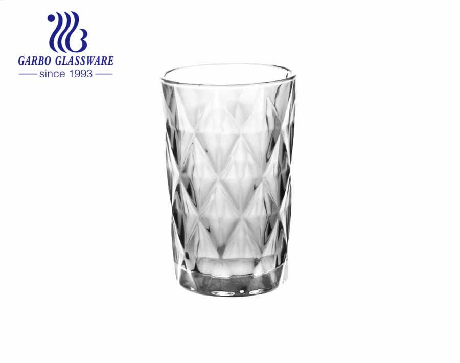 South America Latin markets rhombus diamond engraved glass cups with spraying colors