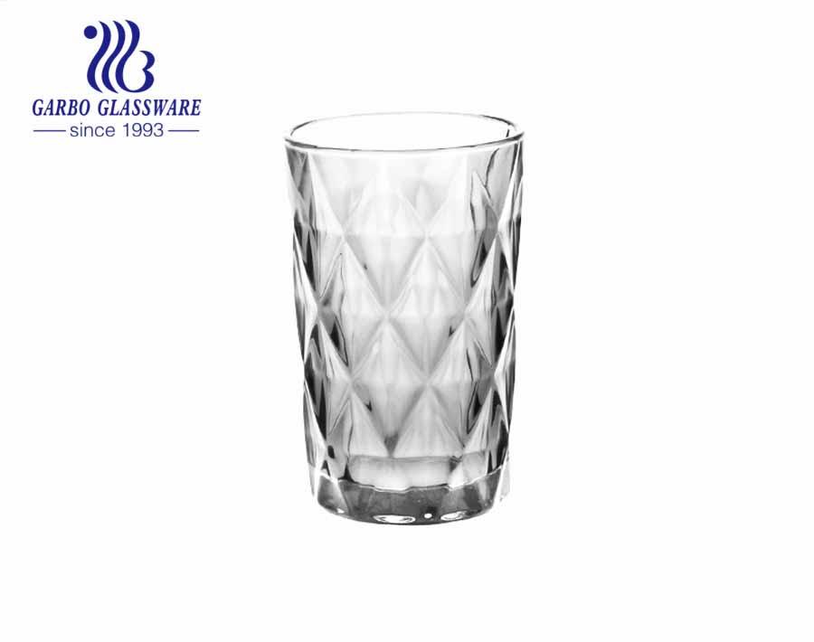 Thị trường Nam Mỹ La tinh cốc thủy tinh khắc kim cương hình thoi với màu phun