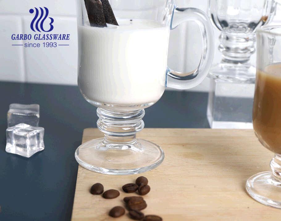 Cốc cà phê Ailen 9oz cốc thủy tinh có tay cầm Cốc thủy tinh có cổ đứng