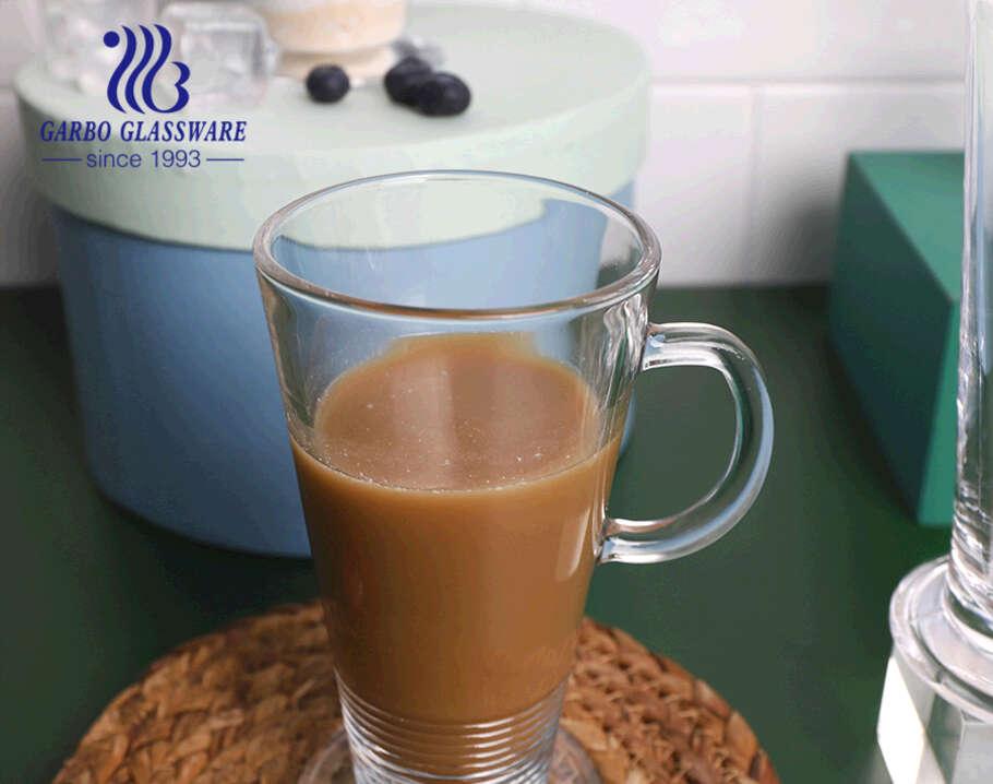 Phong cách cổ điển Ailen pha cà phê thủy tinh cốc cà phê cốc thủy tinh trong suốt có tay cầm