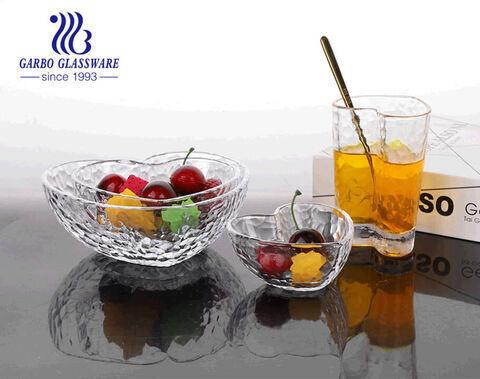 أوعية سلطة زجاجية شفافة بحجم 6 بوصة مع حافة ذهبية بجودة عالية وسعر جيد