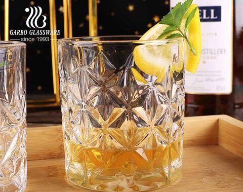 Cốc thủy tinh khắc cổ điển Bộ cốc thủy tinh whisky retro 8oz tiêu chuẩn 4oz gồm XNUMX thiết kế khuôn hỗn hợp