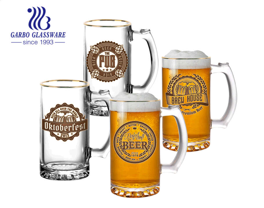 16oz classic beer steins personalize decal designs beer glasses for promotion