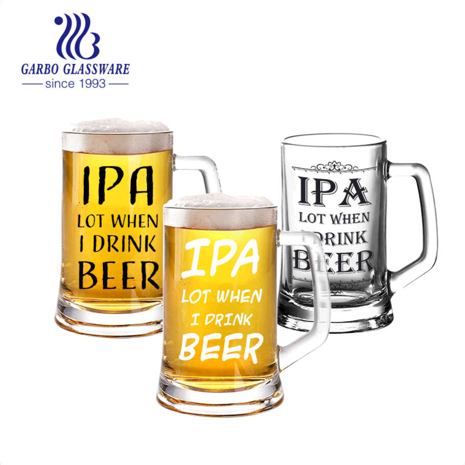 14oz big IPA beer glasses with heavy base Germany beer steins with customized designs