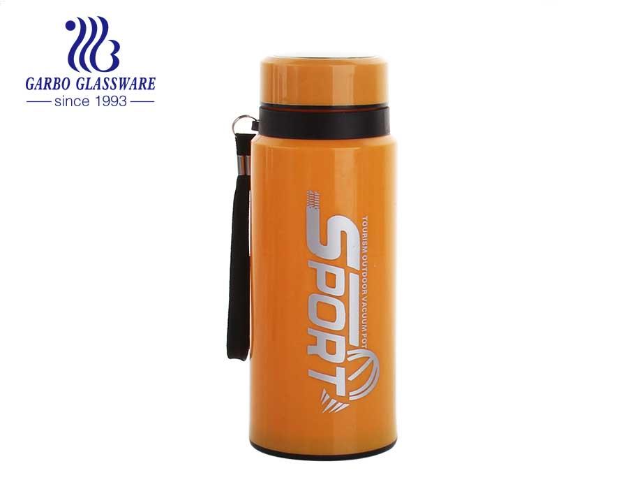زجاجة ماء رياضية في الهواء الطلق 450 مل مع غطاء طباعة ملصق مائي