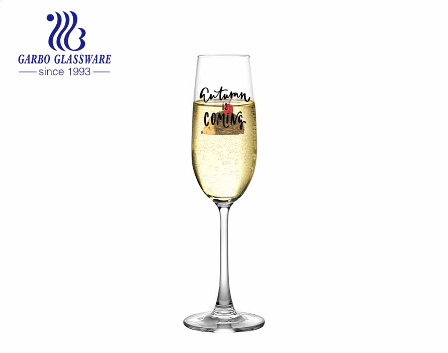 Machine blown glassware drinking wine goblet champagne glass flutes glasses for wedding party
