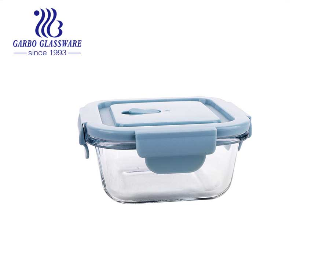 المبيعات الساخنة فرن الميكروويف الزجاج الآمن الغذاء الحاويات مانعة للتسرب الغداء مربع وجبة الإعدادية تخزين الغذاء الحاويات
