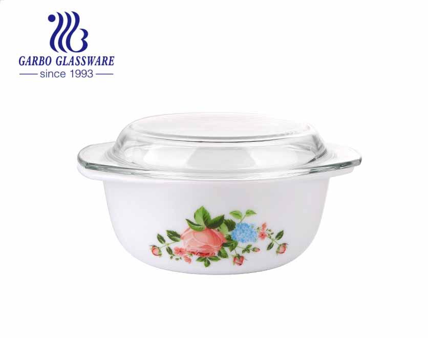 الصين نوعية جيدة 1.5L صحية سهلة مقاومة للحرارة الأبيض زجاجيات أوبال خزفي مستدير