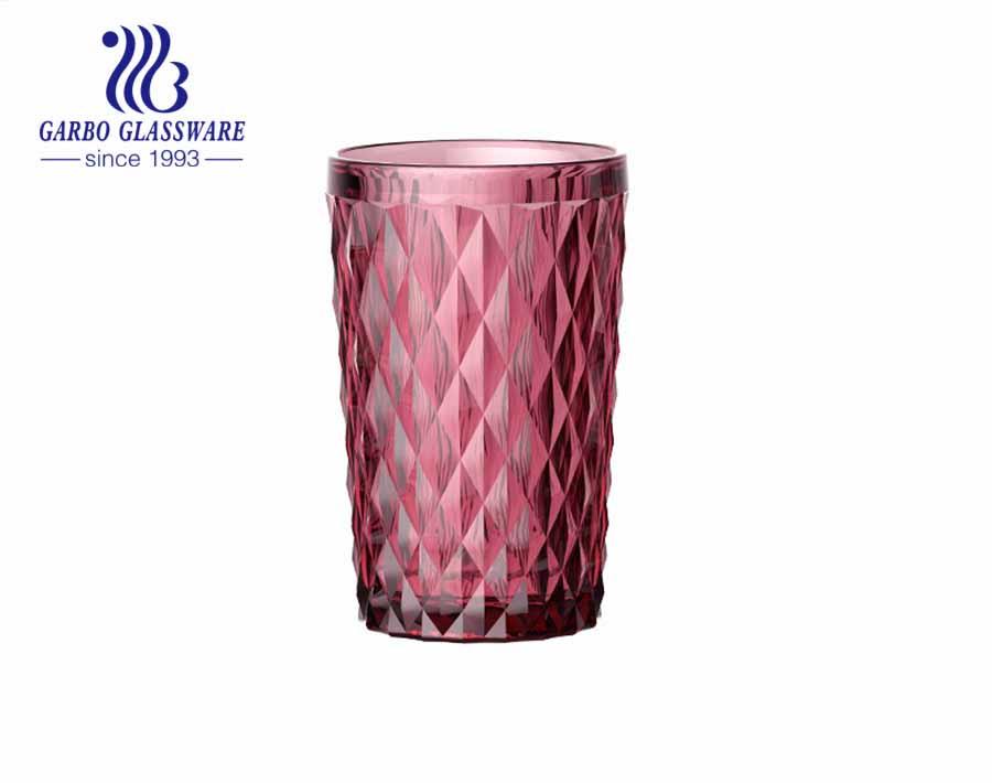 12oz tùy chỉnh màu hồng fushcia xanh lam cốc thủy tinh khắc khói