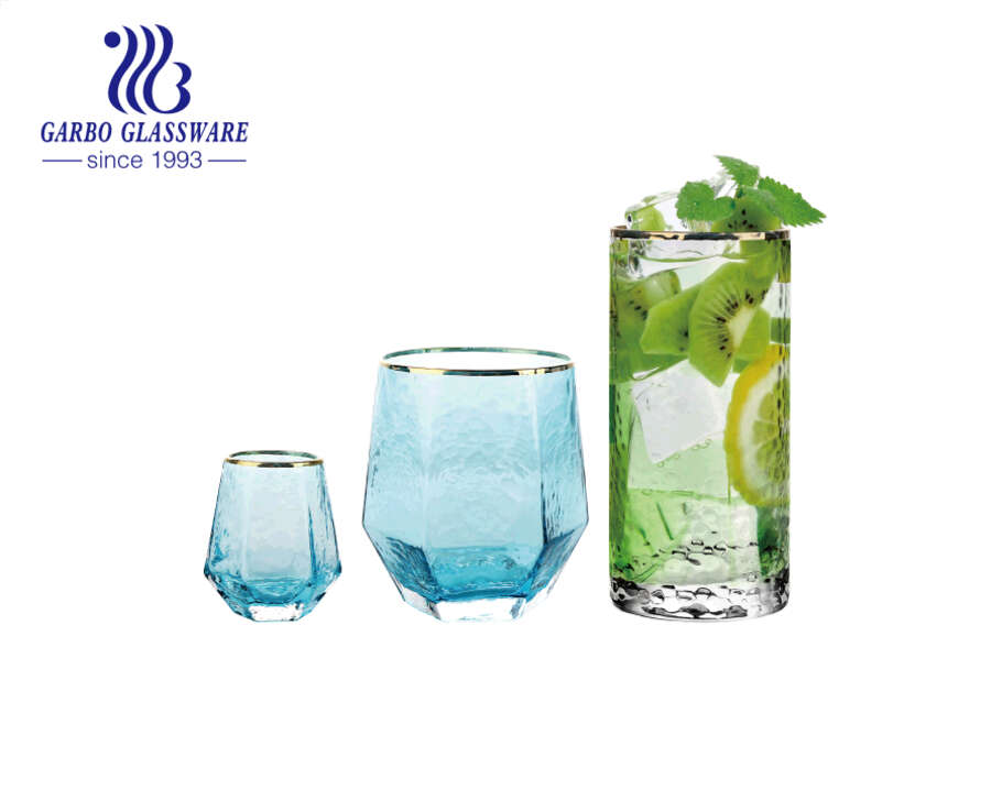 DIY customised combination summer drinks glass tumblers set for barware wedding party gifts