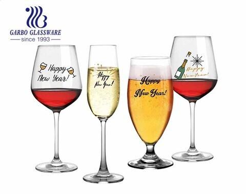 Machine made blown lead free glassware crystal jumbo large bowl 490ml personalized thin wine glasses