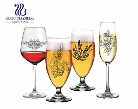 17 أونصة ستيمواري زجاج نبيذ خالٍ من الرصاص تصميم كلاسيكي كريستالي شفاف مثالي للنبيذ الأحمر والنبيذ الأبيض