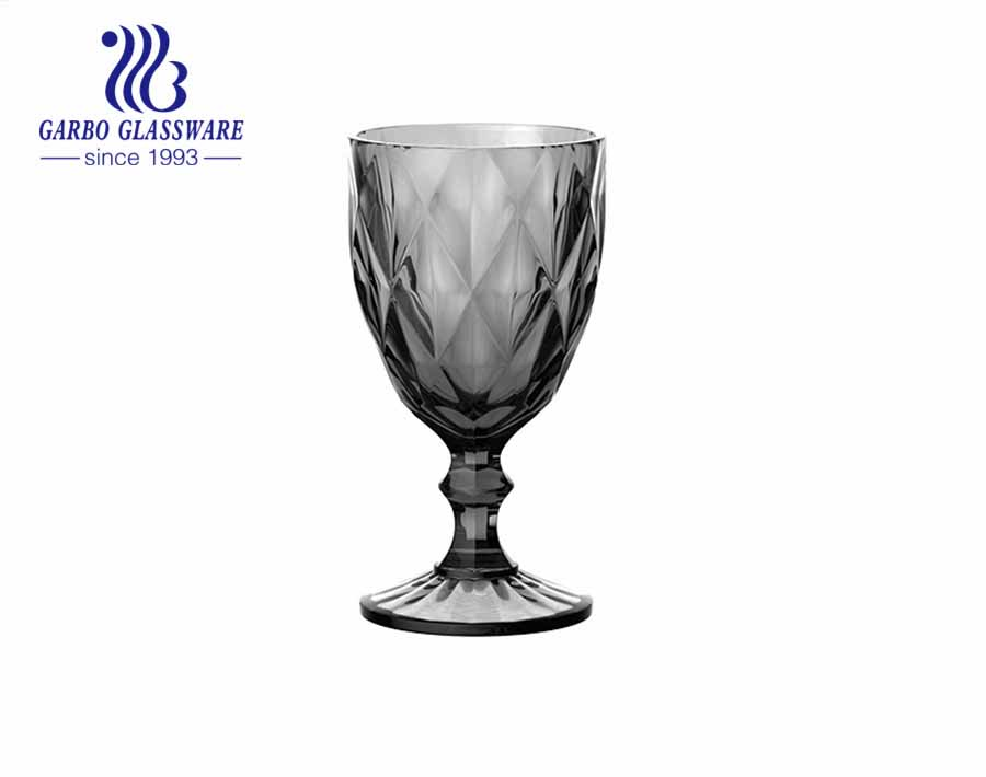 10oz high quality spray color glass goblets wine drinking for home decoration