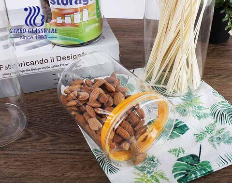 Bán buôn Hộp đựng thức ăn có thể xếp chồng lên nhau Bộ lọ thủy tinh trong suốt cho nhà bếp dày dặn kín hơi 780ml Lọ đựng thực phẩm có nắp bằng gỗ tre