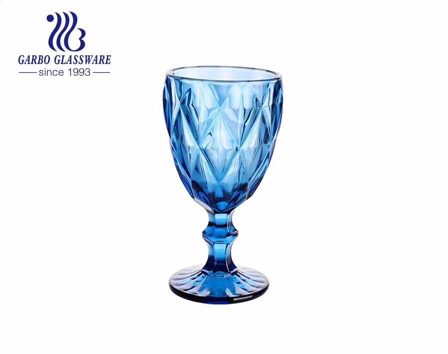 عصير ستيمواري زجاجي عالي الجودة للشرب أدوات مائدة لتزيين المنزل باللون الأزرق