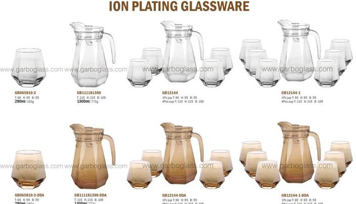 Neues Design Sechseckiger Glaskrug mit Zuhaltungssatz