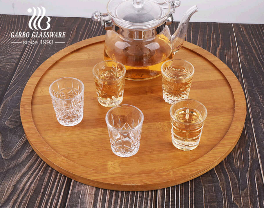 Standard 2oz 50ML in stock small size engraved shot glass cups with 5 designs
