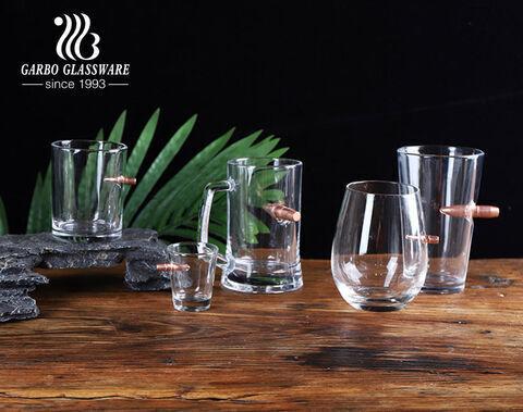 Kreative Kugelglasbecher handgemachte geblasene Glasschale mit Kugelschuss