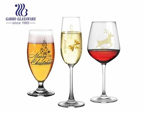 Machine Blowing 490ml Glass Stemware 17oz Crystal Long Stem White Wine Glasses for Home Restaurant