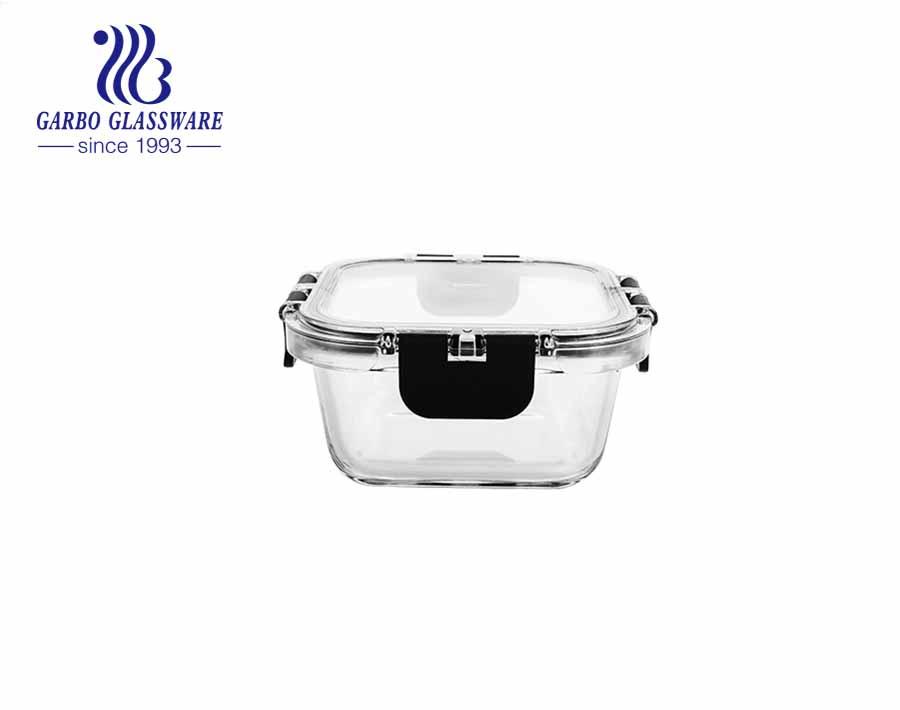 Bán hàng nóng Lò vi sóng An toàn Hộp đựng thực phẩm thủy tinh 1L chống rò rỉ Hộp cơm bento bữa ăn trước khi bảo quản hộp đựng thực phẩm