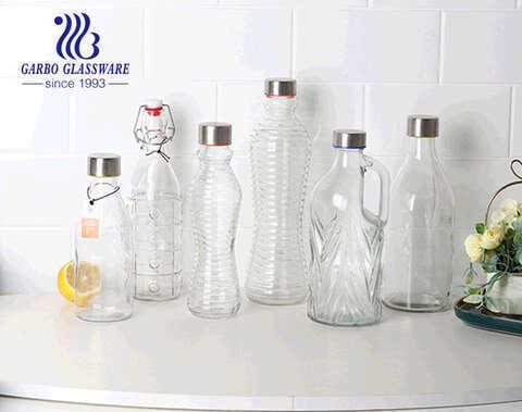 Chai bảo quản thủy tinh 1100ml Miễn phí Chai thủy tinh chống rò rỉ nước chanh chai nước trái cây bia sữa chai bảo quản trong nhà chai nước ngoài trời