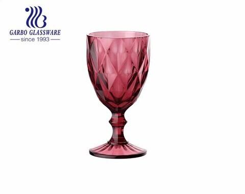300 مللي ستيمواري زجاجي ملون عالي الجودة لشرب النبيذ لتزيين المنزل