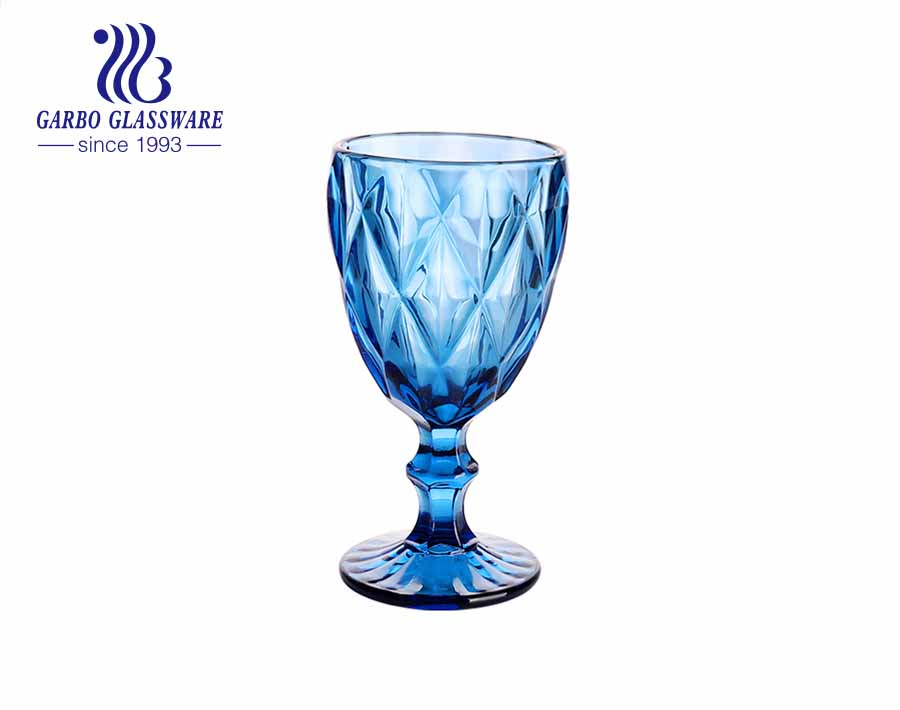 ستيموار زجاجي أزرق اللون لشرب العصير في المنزل والمطعم باستخدام