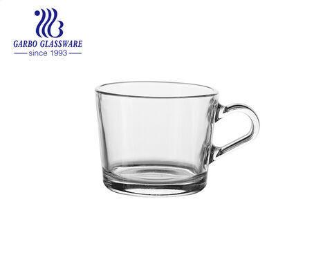 290ml clear glass cup with handle high quality glass coffee mug