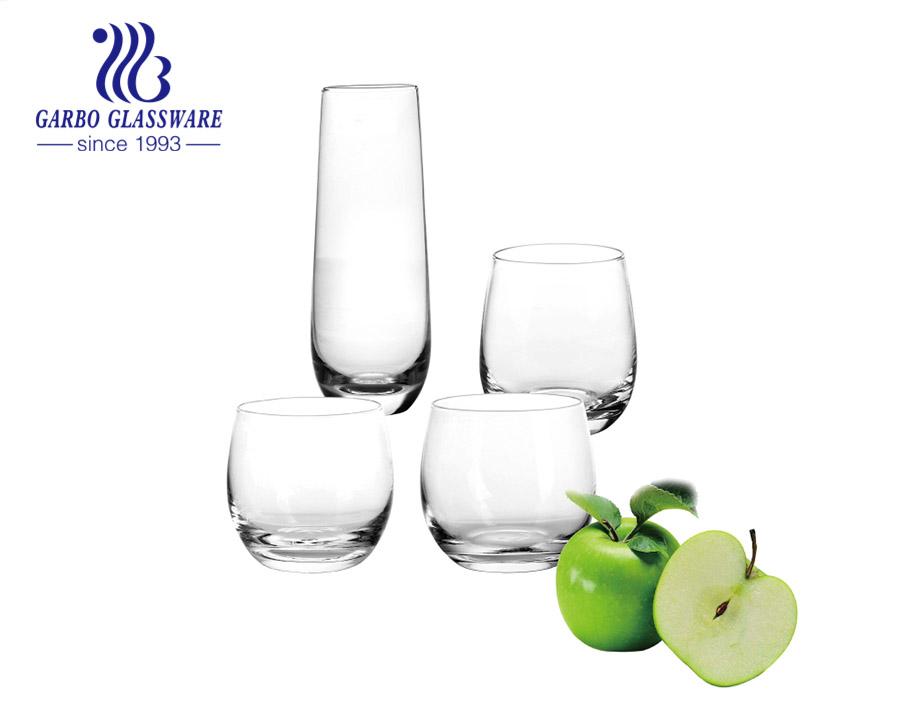 In stock multi sizes 10oz 11oz 12oz 13oz popular shapes clear glass tumbler