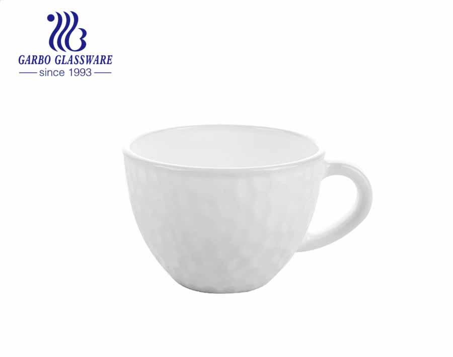 كوب شاي زجاجي من العقيق الأبيض ومجموعة أكواب قهوة زجاجية طقم شرب زجاجي شفاف تصميم مشروبات زجاجية