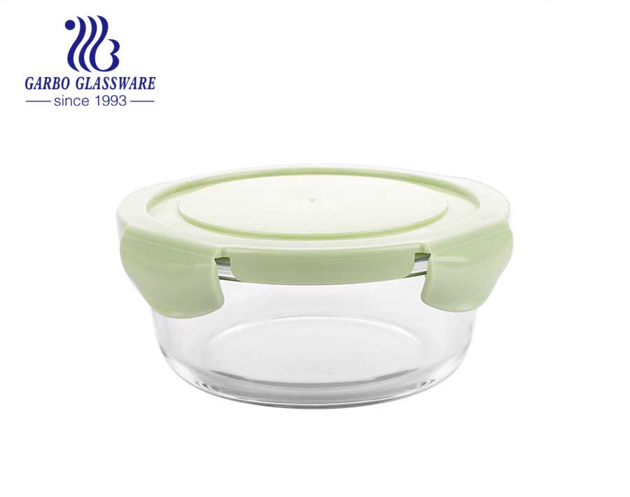 600ml Hot sales Microwave Oven Safe glass food container leakproof bento lunch box meal prep storage food container