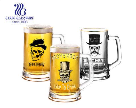14 أوقية كؤوس بيرة IPA كبيرة مع سدادات بيرة ألمانيا ثقيلة مع تصميمات مخصصة