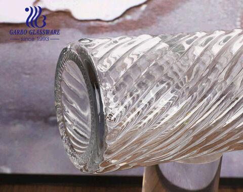 Hộp đựng xà phòng rửa tay thủy tinh trong suốt 460ml cổ điển với máy bơm nhựa vàng
