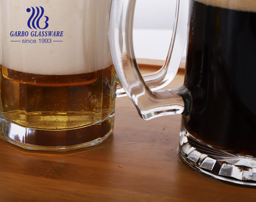Latin America hot selling beer glass mugs classic clear beer steins