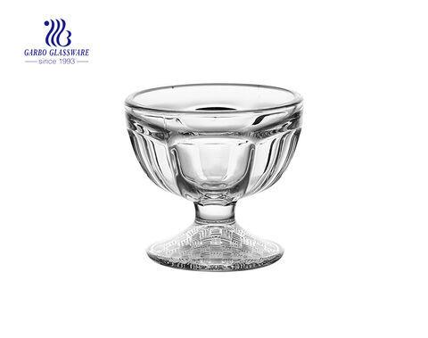 كوب آيس كريم زجاجي كريستال 3 أونصات صغير مثلجات السلطانيات كوب آيس كريم زجاجي وعاء حلويات