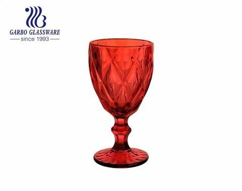 Đồ gia dụng thủy tinh màu đỏ 300ml cho nước uống rượu vang trang trí nhà