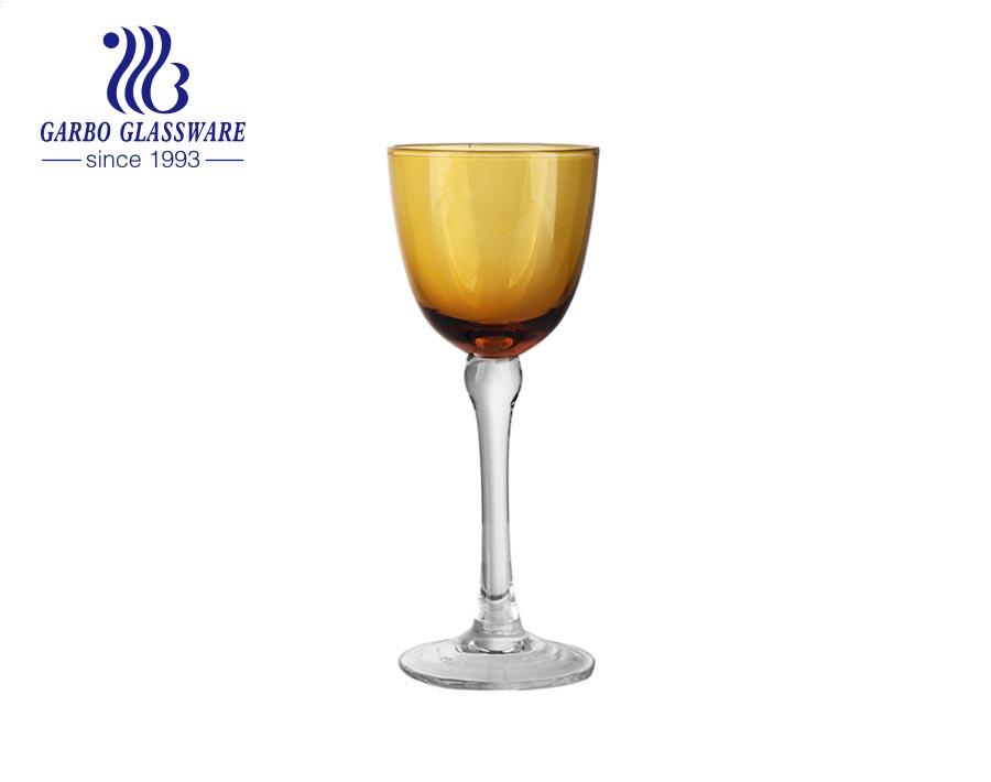 2oz mini solid color glass stemware for long island tea drinking