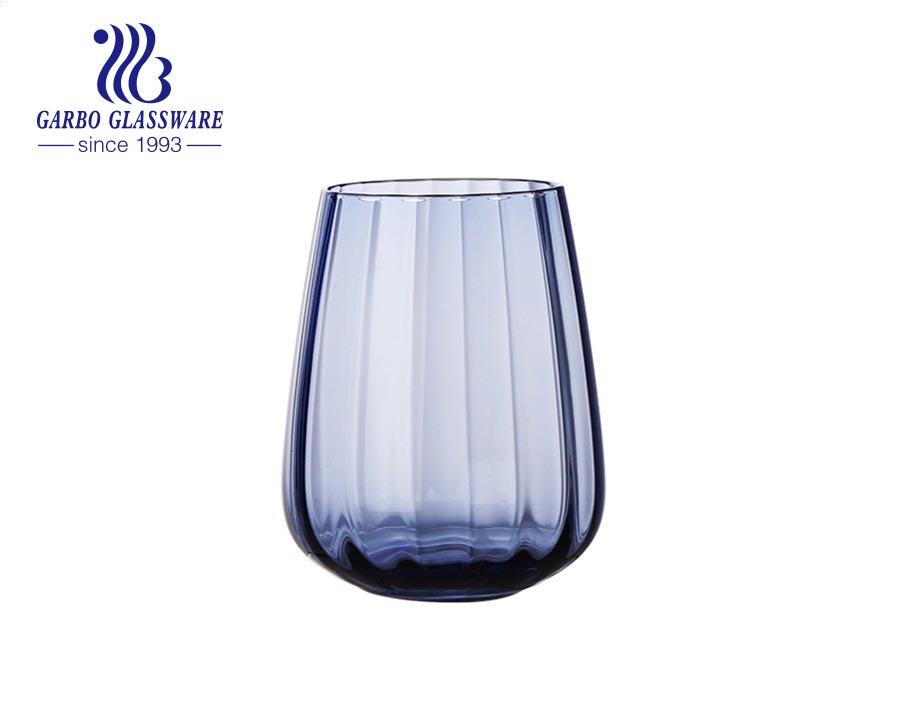 أكواب الشرب ذات جودة عالية 500 مللي من الماء والعصير أدوات مائدة لتزيين المنزل بلون واحد