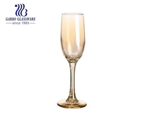 Champagnerflötengläser 6.5oz Ionenplattierungsfarbe Champagnergläser mit eleganter Geschenkbox