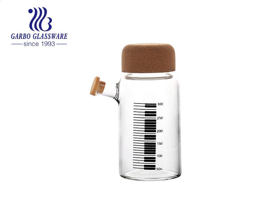 زجاجة زجاجية رياضية داخلية خارجية 10 أوقية لون قوس قزح مزخرف لعصير ماء حليب البيرة
