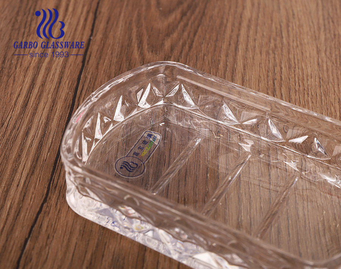 طقم ملحقات حمام زجاجي شفاف بتصميم مخصص 3 قطع للفنادق ، طبق موزع ، صحن صابون للمطبخ