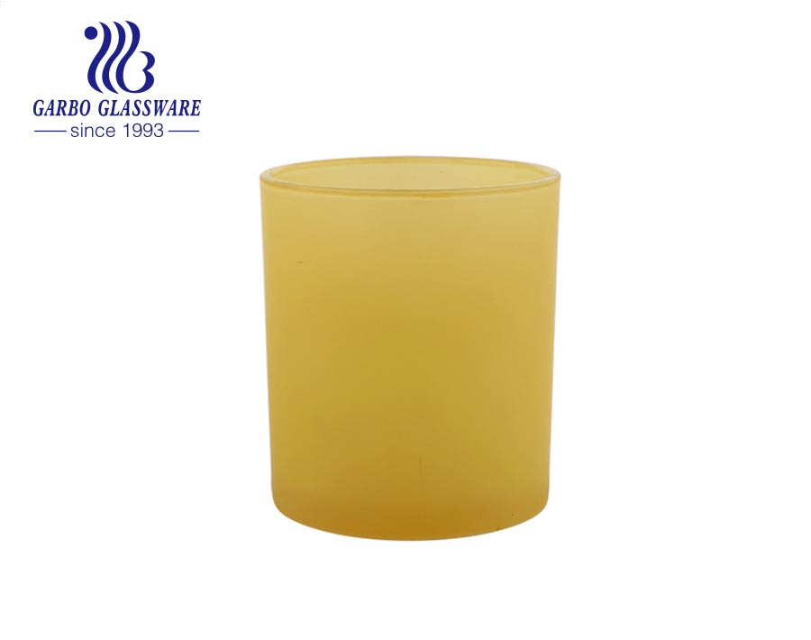 wholesale machine blown red glass candle jar with high quality