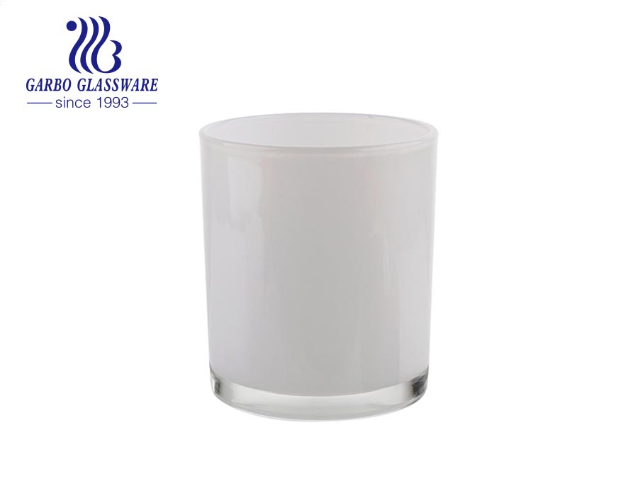 White frosted glass candle holders for tealight/regular votive candles