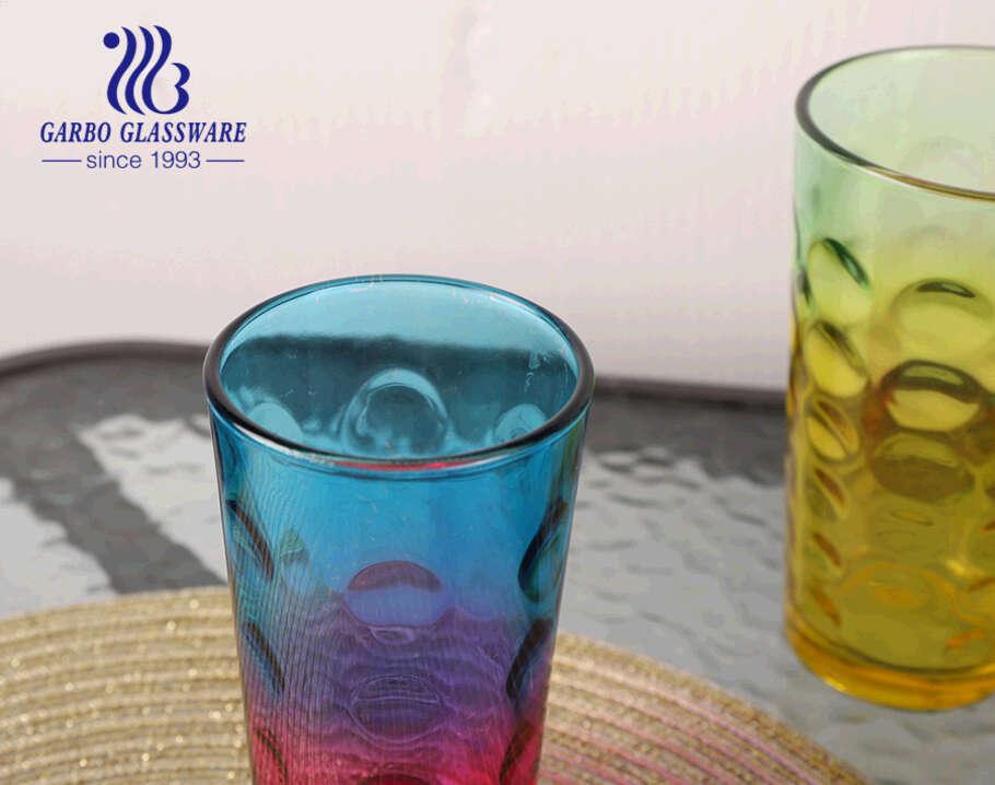 الكلاسيكية رخيصة الثمن 14oz بهلوان الزجاج مع رش الألوان المخصصة