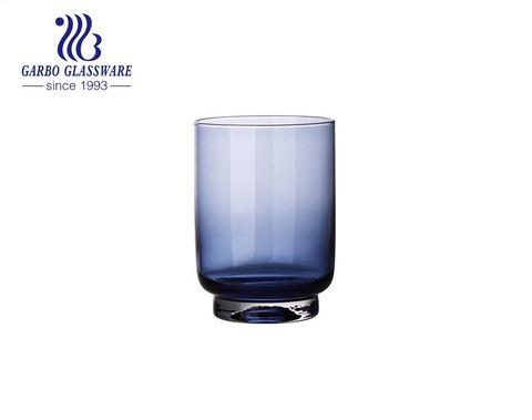 أكواب زجاجية أرجوانية اللون مصنوعة يدويًا عالية الجودة 400 مللي لشرب العصير